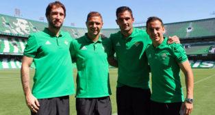 Dani Giménez, Joaquín, Adán y Guardado, los capitanes para la temporada 17-18 (foto: RBB)
