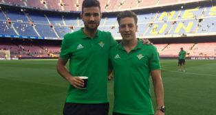 Barragán y Francis, en el Nou Camp (foto: RBB)