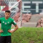 Juanjo Narváez, en un entrenamiento con el Betis en Alemania (Foto: RBB)
