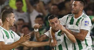 Sergio León celebra su gol ante el Celta (Foto: EFE)