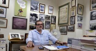 José Rodríguez de la Borbolla, en su despacho (Foto: J. M. Serrano).