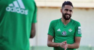 Boudebouz, en el entrenamiento de hoy (foto: RBB)