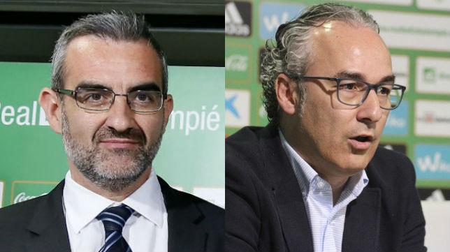 Eduardo Macià y Miguel Torrecilla, los últimos directores deportivos del Betis