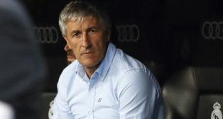 Quique Setién, en el Real Madrid-Real Betis (AFP)