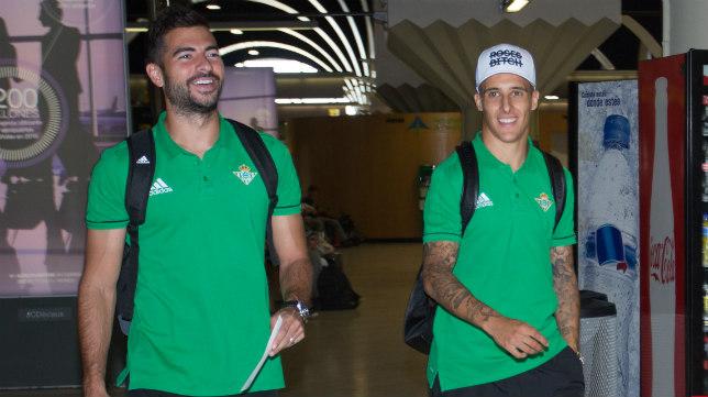 Amat y Tello, en el aeropuerto de Sevilla