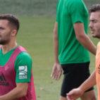 Durmisi y Tosca, juntos en un entrenamiento del Betis (Foto: Pepe Ortega)