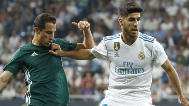 Andrés Guardado, en el encuentro frente al Real Madrid (Foto: EFE / Juanjo Martín)