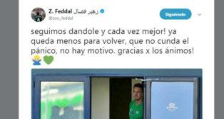 El mensaje de Feddal en redes sociales