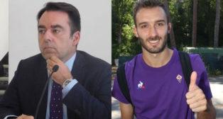 Carlos Freitas, director deportivo de la Fiorentina, y Germán Pezzella
