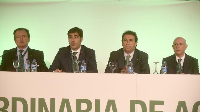 Junta General Ordinaria de Accionistas del Betis celebrada este jueves en el Palacio Municipal de Deportes de San Pablo (Foto: Jesús Spínola)