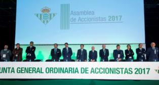 Junta General Ordinaria de Accionistas del Betis celebrada este jueves en el Palacio Municipal de Deportes de San Pablo