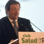 Juan Luis Larrea, presidente de la RFEF, este viernes en Sevilla (Foto: Jesús Spínola)