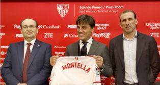 Vincenzo Montella, en su presentación como nuevo entrenador del Sevilla FC (Foto: J. M. Serrano)