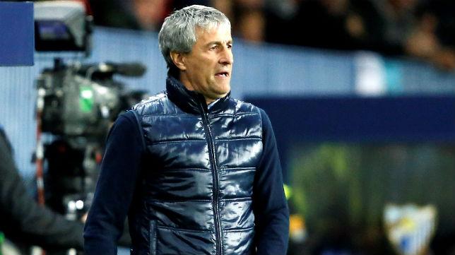 El entrenador del Betis, Quique Setién (Foto: EFE)