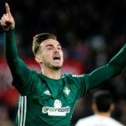 Fabián celebra el 0-1 en el derbi Sevilla-Betis