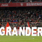 Cartel de 'El Gran Derbi' antes del Sevilla-Betis