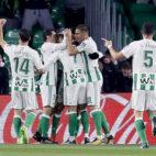 Los jugadores del Betis celebran un gol frente al Leganés (Foto: EFE).