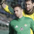 Rubén Castro se entrena tras regresar de su cesión al fútbol chino (Foto: Juan Flores)