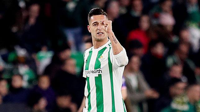 Sergio León celebra el 1-0 de Tello ante el Leganés (Foto: EFE).