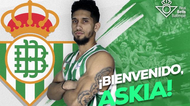 Askia Booker, nuevo fichaje del Real Betis Energía Plus (RBB)