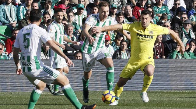Loren, durante el Betis-Villarreal