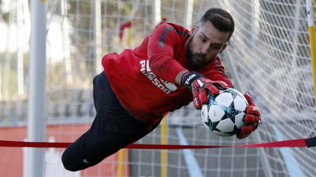 Moyá, en un entrenamiento con el Atlético de Madrid (Foto: ABC)