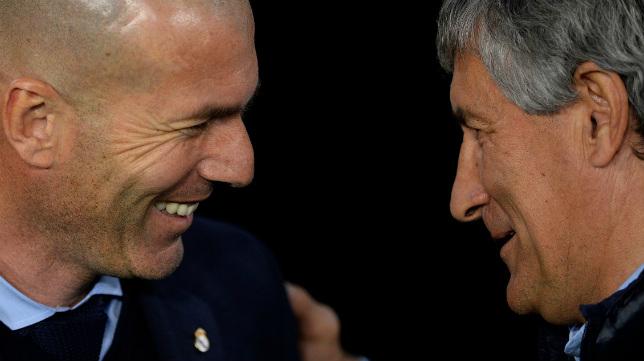 Zidane y Setién