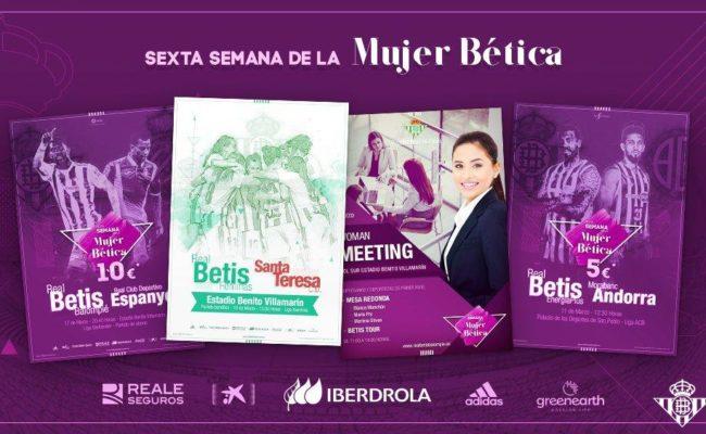 Carteles promocionales de la sexta Semana de la Mujer Bética (RBB)