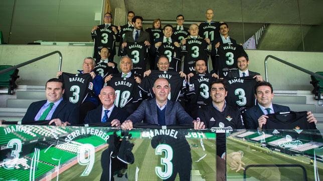 Los accionistas del tramo caro, en el Villamarín (Foto: Real Betis).