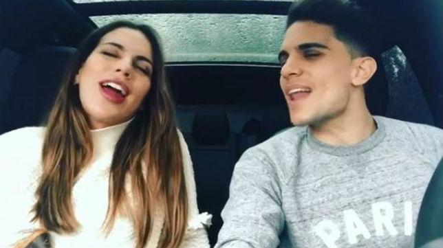 Bartra y su mujer, Melissa Jiménez