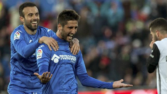 Markel Bergara celebra un gol con el Getafe (EFE)