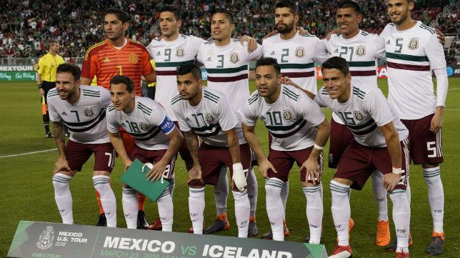 Once titular de México en el encuentro ante Islandia (Foto: EFE)