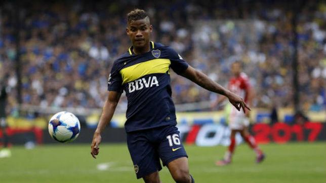 Wilmar Barrios, en un partido con Boca Juniors (EFE)