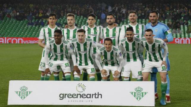 Once del Betis ante el Espanyol. Foto: LaLiga