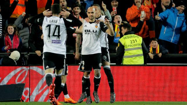 Zaza celebra el 2-0 ante el Betis
