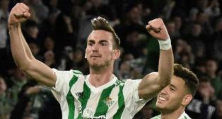 Fabián celebra su gol