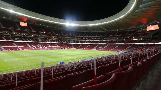 Imagen interior del Wanda Metropolitano, la nueva casa del Atlético de Madrid