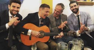 Barragán, Joaquín, Marcos Álvarez y Manu Alcantarilla, en la Feria