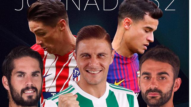 Joaquín es uno de los nominados a jugador de la jornada por LaLiga