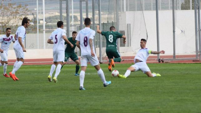 Lance del duelo entre Jumilla y Betis Deportivo. Foto: FC Jumilla