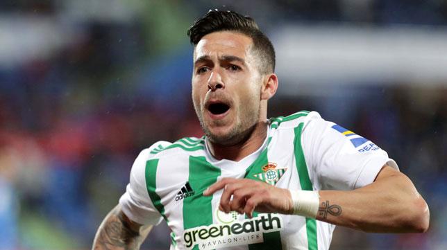 Sergio León celebra su gol en Getafe (Foto: EFE).