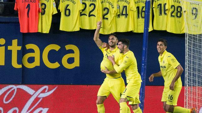 Los jugadores del Villarreal celebran el primer gol anotado ante el Leganés (Foto: EFE)