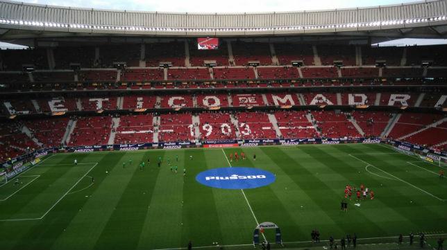Wanda Metropolitano en la previa del Atlético de Madrid- Betis. Foto: Ramón Román