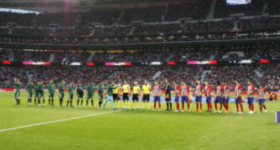 Once del Betis ante el Atlético de Madrid en el Wanda Metropolitano. Foto: LaLiga
