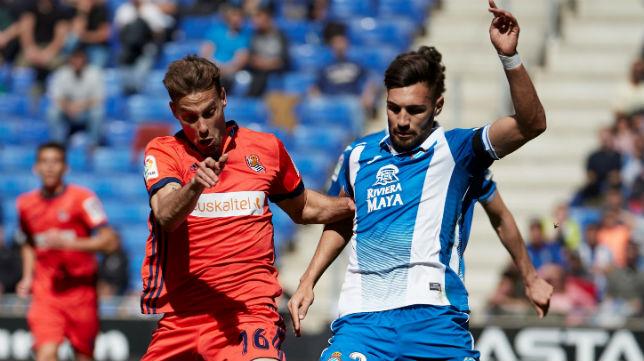 Sergio Canales, en el Espanyol-Real Sociedad (EFE)