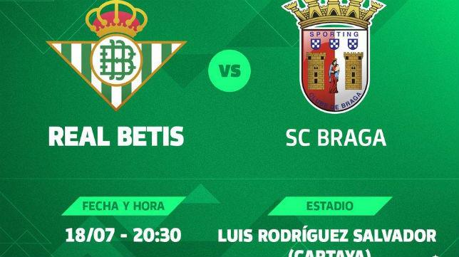Cartel del Betis-Sporting de Braga (RBB)