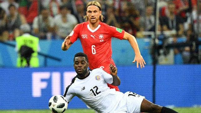 Joel Campbell, durante el Suiza-Costa Rica del Mundial de Rusia (Foto: AFP)