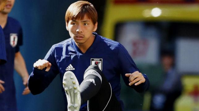 Inui, durante un entrenamiento en el Mundial de Rusia (Foto: EFE)
