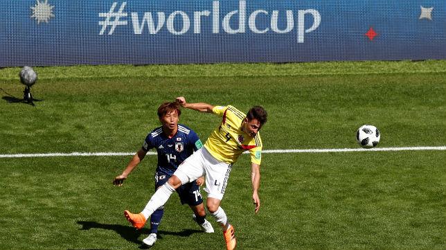 Inui, en el Colombia-Japón (Reuters)