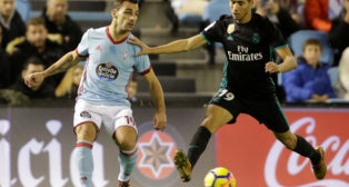 Jonny, en un Celta-Real Madrid